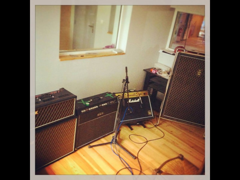 Monsieur Spoke au Studio - Amp Cabs